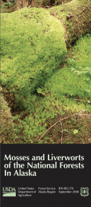 The ccover of Lichens and Liverworts